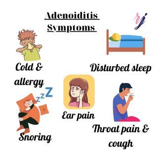 Symptoms of adenoiditis